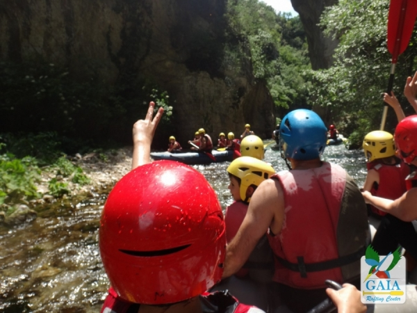 Rafting for families with children